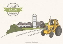 Free Farm Scene Vector Background