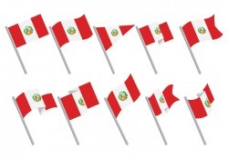 Free Peru Flag Icons Vector
