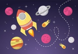 Free Space Landscape Vector Background