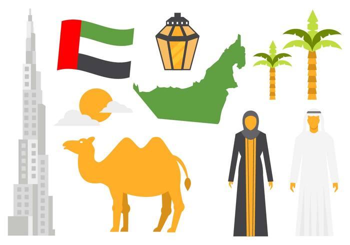 Free United Arab Emirates Icons Vector