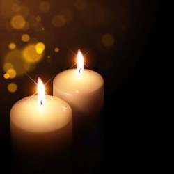 Halation background with fire candle vector 02