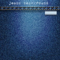 Jeans fabric background vector 03