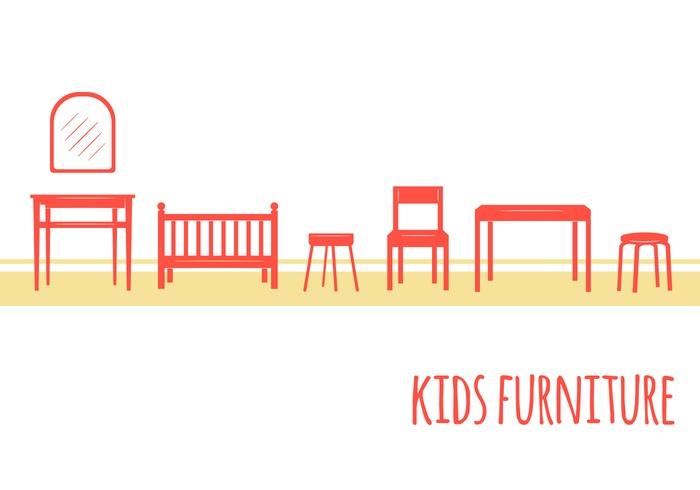 Kids Furniture Icons