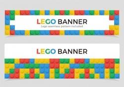Multicolor Lego Banners Vector