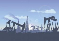 Oil Field Landscape Illustration Vector