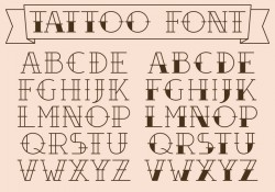 Old School Tattoo Type Vectors