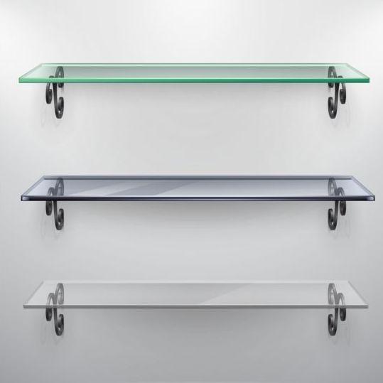 Shelves glass design vector