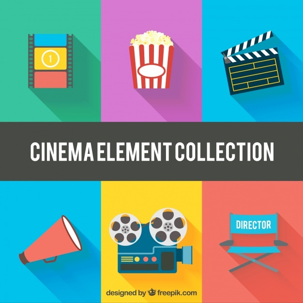 Variety of flat cinema elements