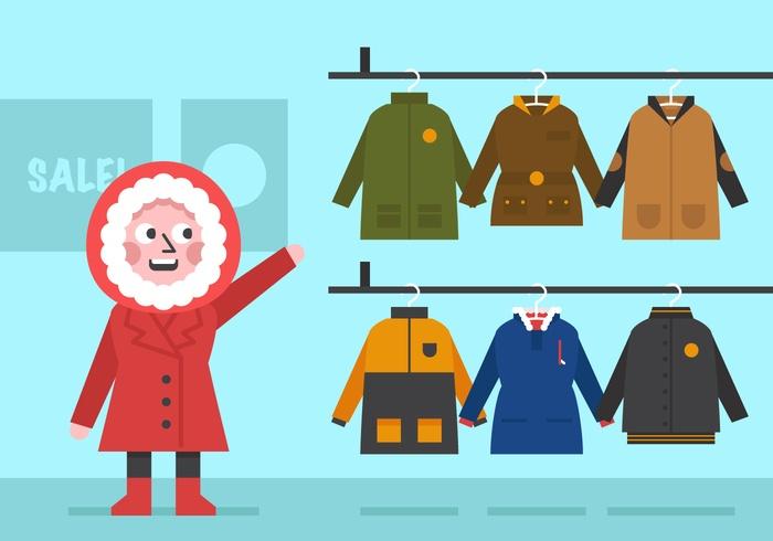 Vector Winter Coat for Girls