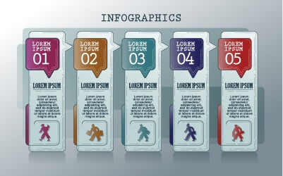 Vintage banners infographic template vectors set 10