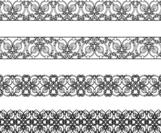 Vintage decor black border vectors