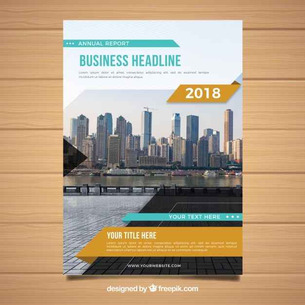 Modern cover of business report 2018