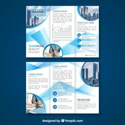 Abstract business triptych template