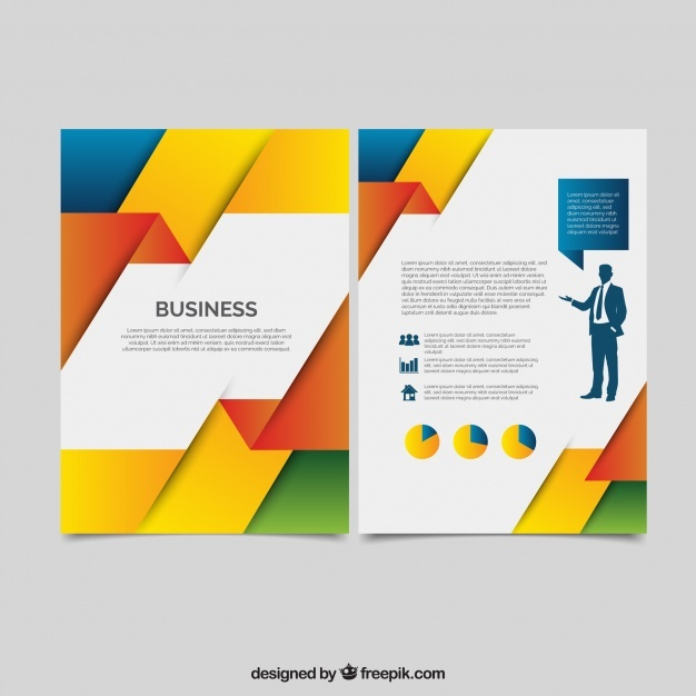 Abstract colorful corporate brochure