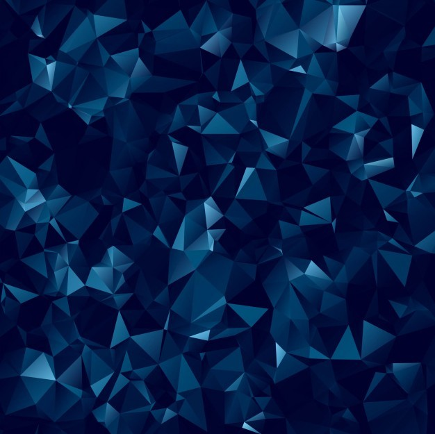 Abstract dark blue polygonal background