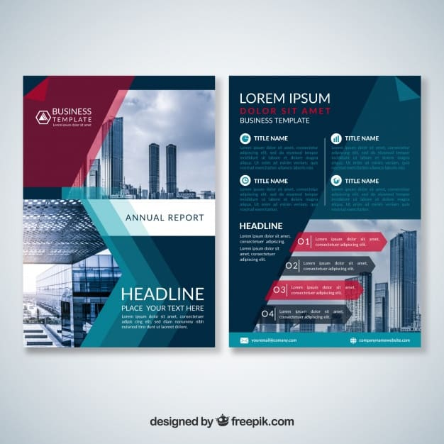 Abstract modern business brochure