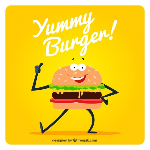 Background of funny hamburger