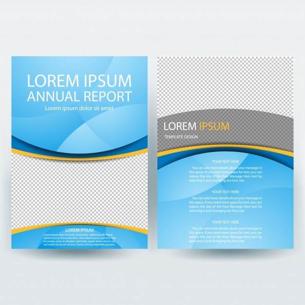 Business brochure template with Blue shapes