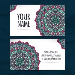 Cute mandala style visiting card