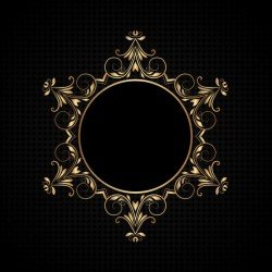 Decorative background with luxurious frame