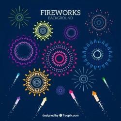Decorative firework background