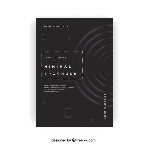 Elegant minimalist brochure