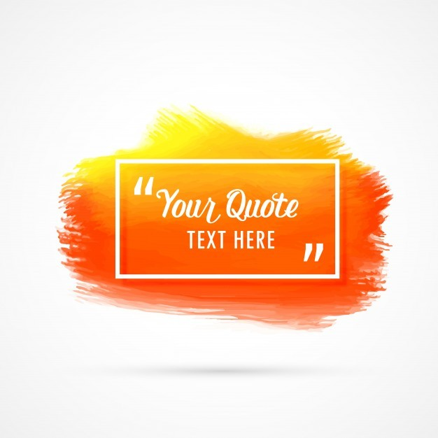 Orange watercolor stain quote design