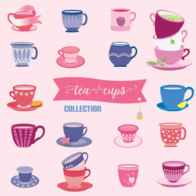 Tea cups collection
