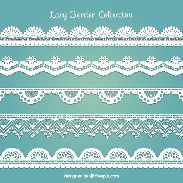 Various decorative lace borders