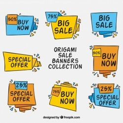 Origami Discount Banners