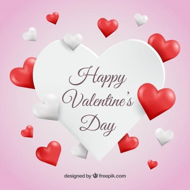 Background of valentine hearts