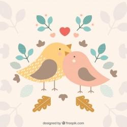 Birds background design