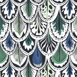 Blue and green feathers pattern