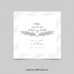 Elegant wedding card