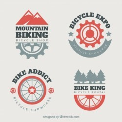 Mountain bike logos with modern style