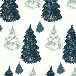 Pine trees pattern