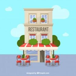 Resturant building background