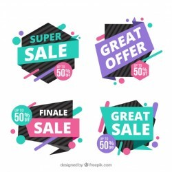 Sales banner collection