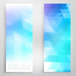 Vector banners and triangles