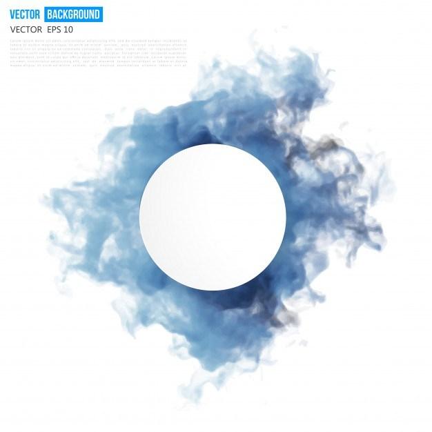 Vector blue cloud