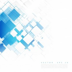 Vector blue squares. Abstract background