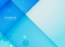 Abstract medical background in blue color