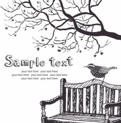 Bird and tree card