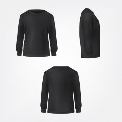 Black jumper three sides view realistic