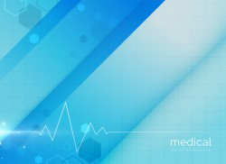 Blue medical background design illustration