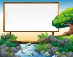 Board template with river in background