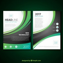 Brochure template with modern curves