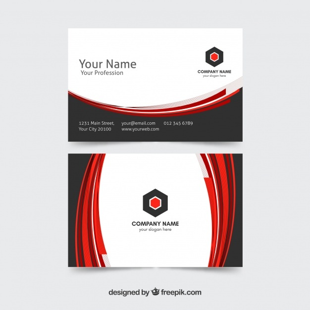 Business card with elegant style