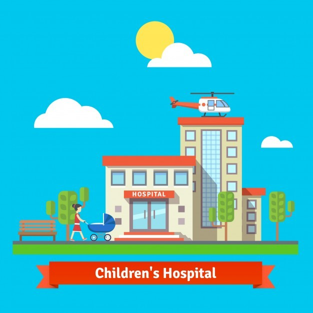 Children hospital and clinic building