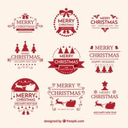 Christmas labels with modern style